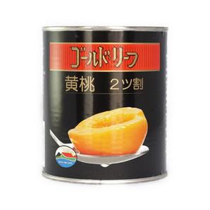 正栄食品 | ゴールドリーフ 黄桃 ハーフ / 2号缶
